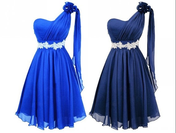Royal Blue Cheap Bridesmaid Dress Dark Blue Short By Loveshop9
