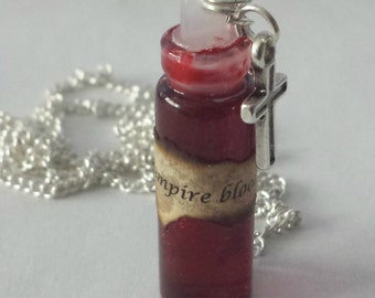 Vampire Blood Bottle Charm