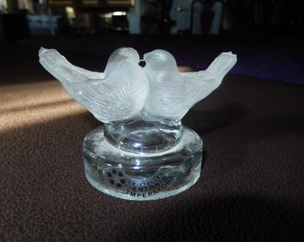 ITALIAN PAPERWEIGHT LOVEBIRDS