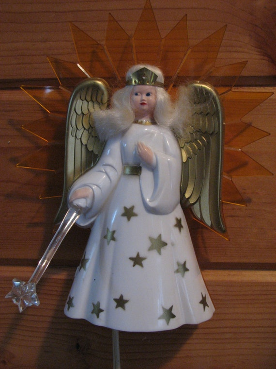 1940 S Noma Plastic Lighted Angel Night Light Or Christmas