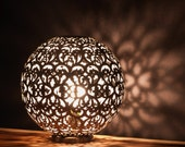 Round Table Lamp made from Nickel   Beautiful Light Projection   Ambiance Lighting