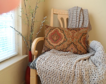 Beautiful Handmade 20 x 14 Pillow Cover in a Contemporary Design