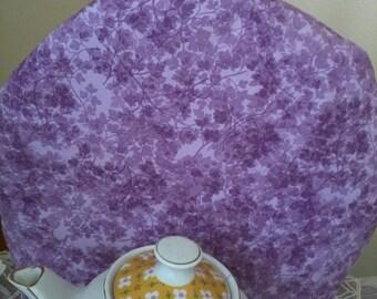 Tea Cozy Lavender Purple Print Insulated with Insul-Bright and Warm Fleece