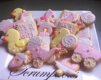 20 Christening or Baby Shower cookie platter.
