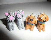 Dog and Cat Necklaces and Earrings