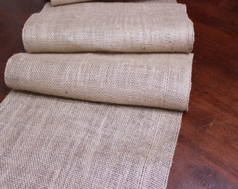 """20% OFF SALE: (20) 14"""" Wide Natural Burlap Table Runners"""
