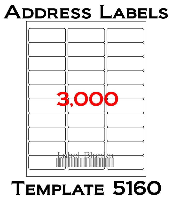 avery 5160 template pdf - 3000 laser ink jet labels 100 sheets 1 x 2 5 8
