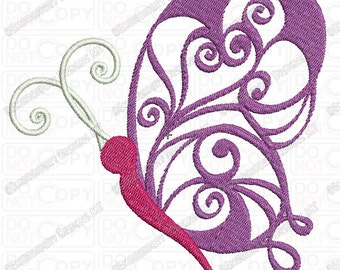Fancy Butterfly Applique Embroidery Design in 4x4 and 5x7 Sizes