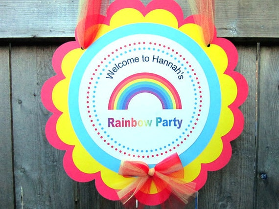 Rainbow Birthday Party Sign