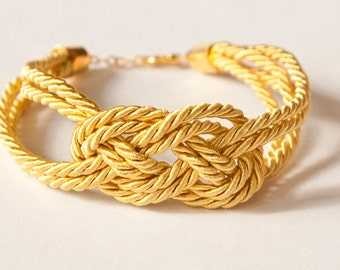 Sailor knot silk bracelet - bridesmaids / friend / bridal shower gift (gold)