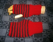 Red and Black Stripe Hand Warmers