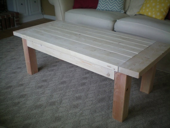 Items similar to Rustic Farmhouse Coffee Table Available in any color or sta