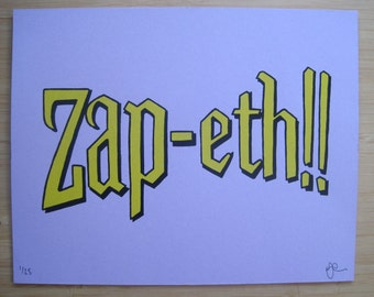 Zap-eth! - Limited Edition, Hand Pulled Silkscreen Art Print