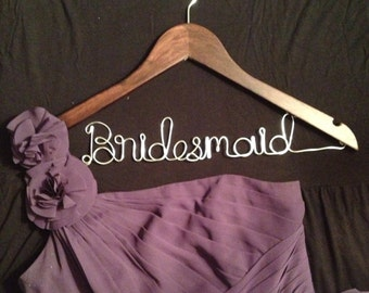 Custom Made Wood Bridesmaid Hanger
