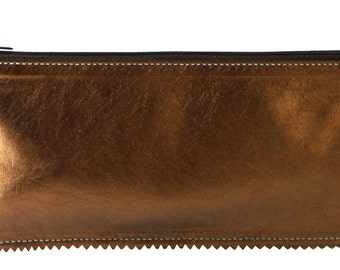 Copper Leather Pouch