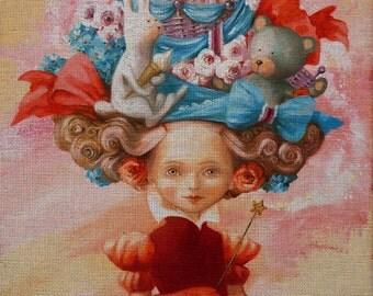 """Needlepoint canvas """"Plush Toys Fairy"""" by Derevyanko Natalyia (ADN003)"""