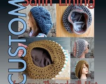 CUSTOM Satin Lining for any Threadmill Hat