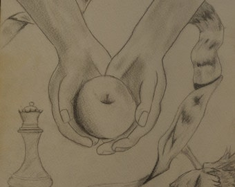 twilight saga -print of original drawing