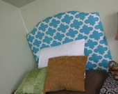 Sky Blue Fynn Geometric Twin Upholstered Headboard - BedheadDesigns