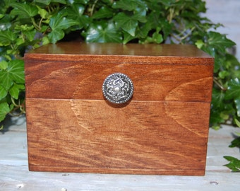 Rustic Handcrafted Large Recipe Box/Wood Recipe Box/Rustic Advice Box/Rustic Wedding Decor/ Shabby Chic Wedding Decor/Recipe Box/ Rustic Box