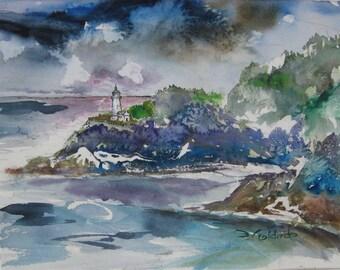 Heceta Head Lighthouse Oregon Coast Impressions