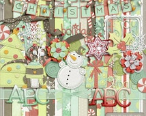 A Touch Of Christmas Digital Scrapbook Kit