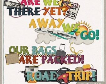 On The Go Travel Word Art