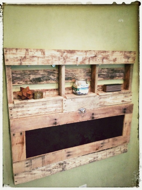 Pallet Wood FoldOut Desk by WorkmansPalette on Etsy