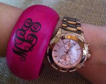 Hot Pink Monogrammed Bracelet