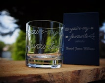 Personalised Glass Tumbler ideal gift for weddings, birthdays, christmas, anniversarys or corporate prizes