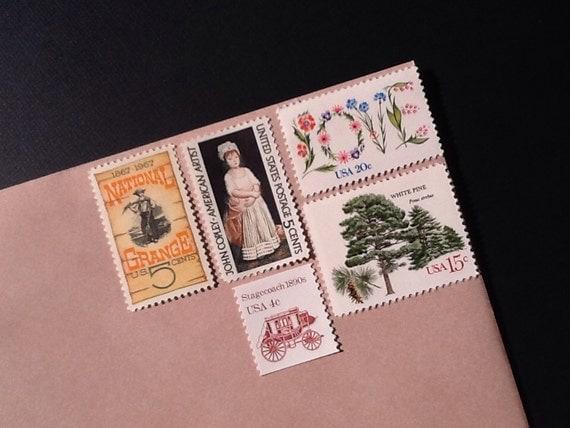 Wedding Stamps Vintage Unused Postage Love Stamps Enough
