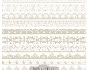 Clipart beige lace borders, clip art lace, lace border, digital lace border, digital border, lace digital, border lace