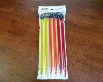 Crystalites Knitting Needles Size US 11,13,15  (8,9,10 mm) NEW