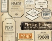 Printable Halloween Apothecary Labels - Halloween Decor