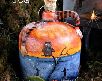 Moonshine Jug - Painted by Terrye French, E-Pattern