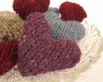 knitted  heart *VALENTINES GIFT* mini hearts, favours, gifts,