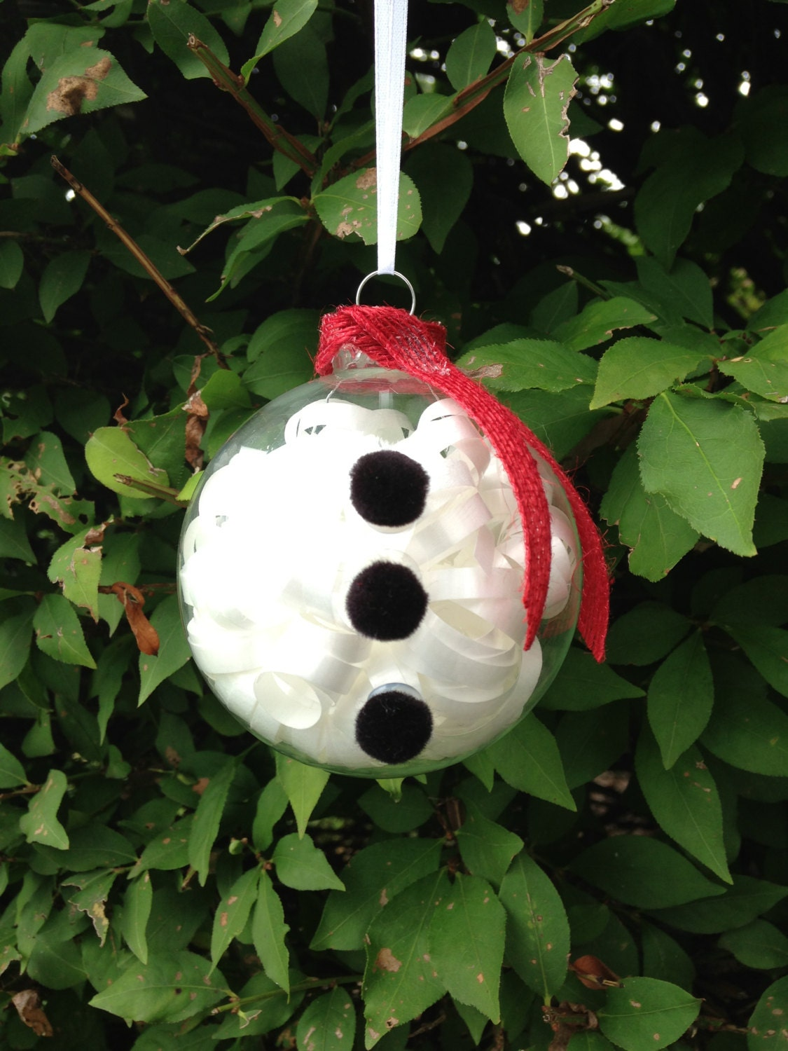 Handmade snowman christmas ornament