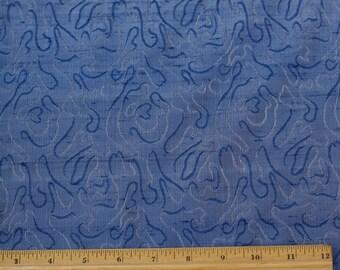 "Blue Swirl Silk Jacquard 100% Silk Dupioni Fabric 44"" Wide, By the Yard (JD-330)"