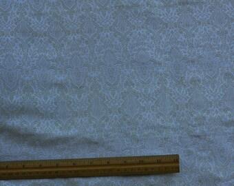 "Ivory/Gold Silk/Metallic/Rayon Brocade Jacquard Silk, 44"" Wide, By The Yard (JD-4031A)"