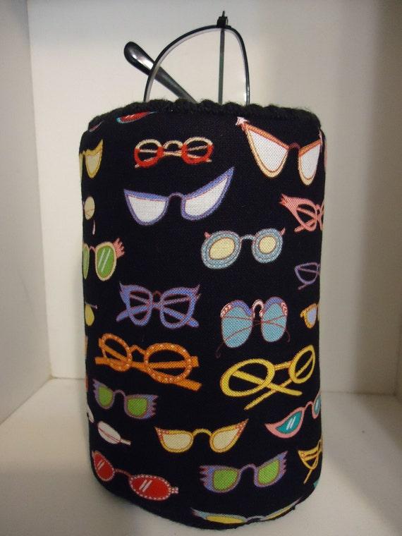 Retro Funky Eyeglasses Fabric Eyeglass Holder Case Office