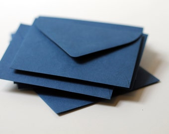"25 Mini Navy Blue Envelopes - 2.6875 x 3.6875 inches (2 11/16"" x 3 11/16"") - Mini Guestbook Envelopes"