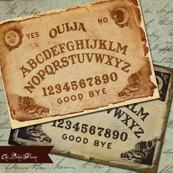 Ouija ATC vintage images occult Backgrounds or Tags Set 1 Printable Digital Collage Sheet Instant Download