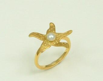 Handmade Gold 18k Ring with Pearl (Χειροποίητο Χρυσό 18k Δαχτυλίδι με Μαργαριτάρι)