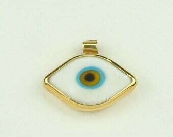 Handmade Gold 18k Eye Pendant (Χρυσό 18k Χειροποίητο Μενταγιόν Ματάκι)