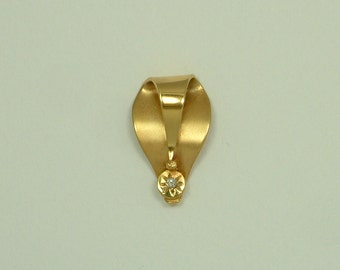 Gold 18k Handmade Pendant with Brilliant (Χρυσό 18k Χειροποίητο Μενταγιόν με Μπριγιάν)