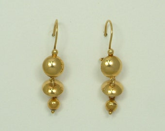 Gold 18k Handmade Hanging Earrings (Κρεμαστά Σκουλαρίκια Xειροποίητα Χρυσά 18k)
