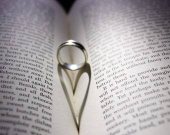Heart, Ring, Shadow, Photograph, Romance, Commitment, Anniversary, Gift,  Home Decor, Art, Photography, Photo, Image, Wall Art, Pic