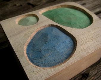WOOD RELIEF BUBBLES in oak