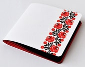 "Red-Black Notebook Journal ""Traditional Ukrainian embroidery""+white gel Pen-Christmas gits - Book. Journal. Notebook -Red-black  embroidery"