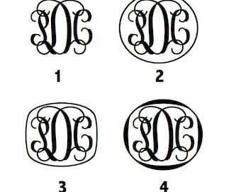 "12"" inch Vine Wall Monogram"